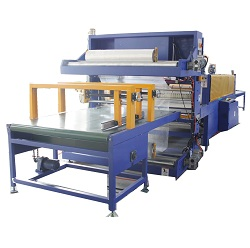 Shrink wrap machine for mineral wool acoustic panels