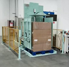 Frozen pallet inverter | Cold food Pallet Upender