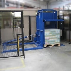95 ° Pallet Exchanger