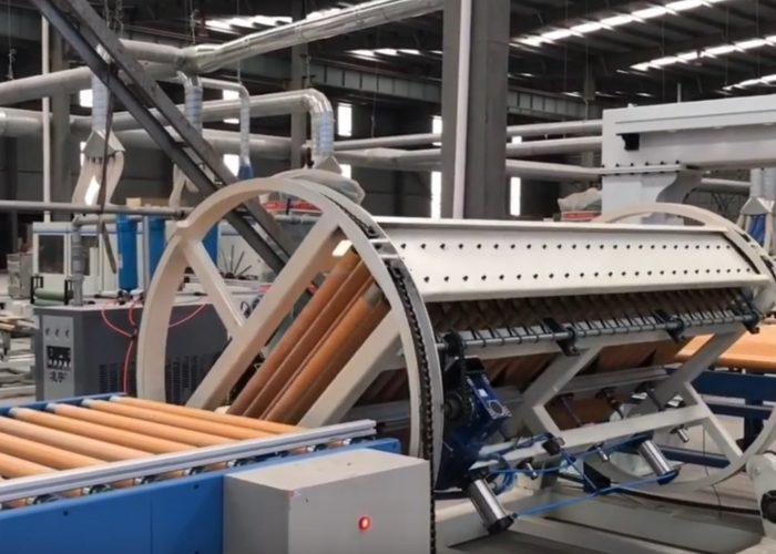 Panel rotating machine