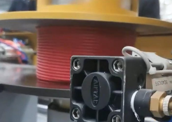 cable winding and strapping machine