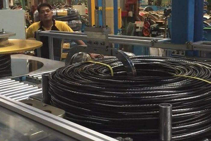 automatic cable wire coiling machine