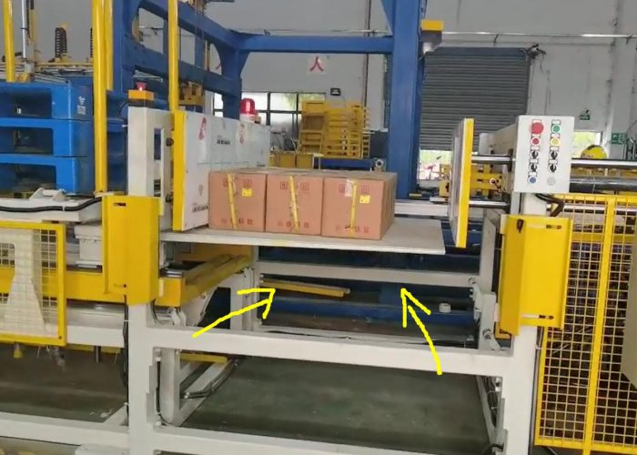 pallet changing machine by pushing