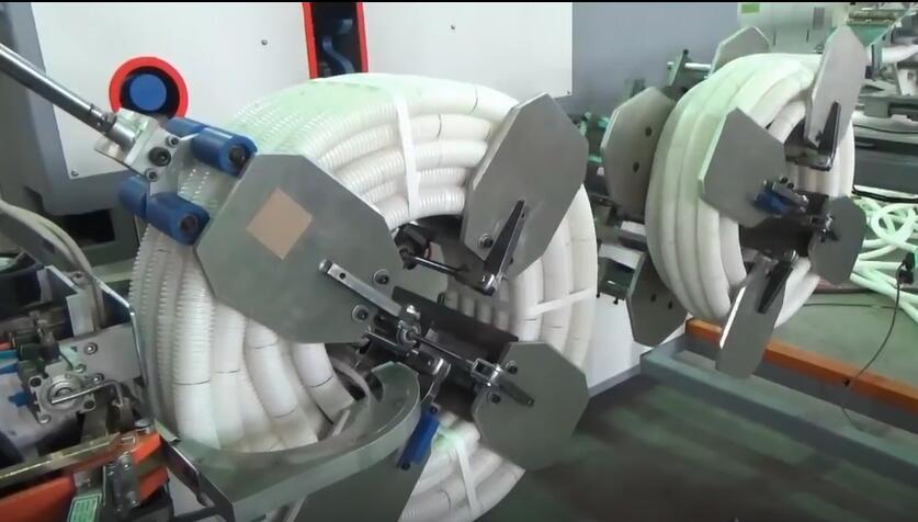 自动波纹管收卷捆扎机