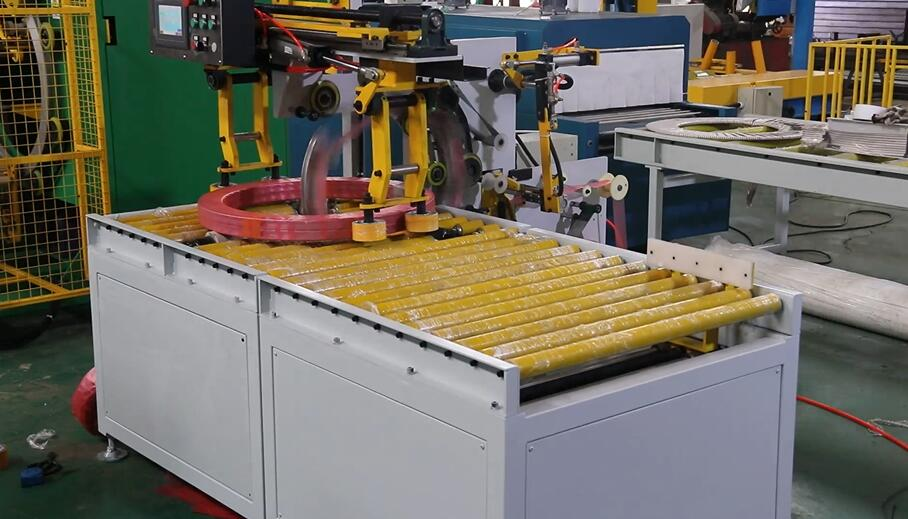 coil packing machine, coil stretch wrapper